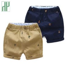 Toddler Boys Summer Shorts Printing Cotton Panties Cool Shorts For Children Kids Shorts Beach Anchor Print Trousers 90~130(China)