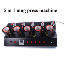free shipping High-Efficiency 5 In 1 Mug/Cup Printing Machine,Manual Mug Press Machine,Heat Press/ Sublimation Mug Machine