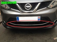 Car Front Grille Trim Auto Grille Decoration Cover For Nissan Qashqai 2015 Stainless Steel
