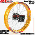 "14"" Dirt Pit Bike Rear Wheels 1.85x14"" inch For KAYO BSE Apollo Xmotos CRF50 CRF70 KLX110 TTR110 125 140 160cc MX Spare Parts"