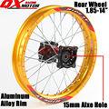 "14"" Dirt Pit Bike Rear Wheels 1.85x14"" inch For KAYO BSE Apollo Xmotos CRF50 CRF70 KLX110 TTR110 125 140 160cc MX Spare Parts"
