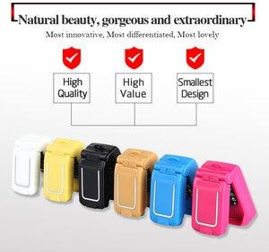 Image 4 - LONG CZ J9 Mini Bluetooth Lật Điện Thoại 2G Đa Ngôn Ngữ Thay Đổi Giọng Nói Trình Quay Số Bluetooth Tai Nghe 300MAh 0.66 Inch em Mini Điện Thoại