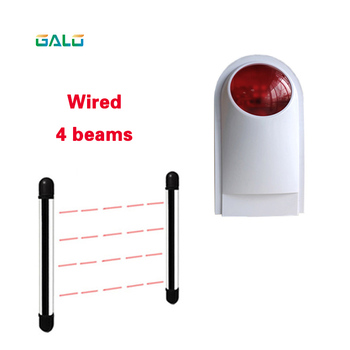 Photoelectric 4Beams Sensor Active Infrared Intrusion Detector IR Outdoor Perimeter Wall Window Fence Alarm system