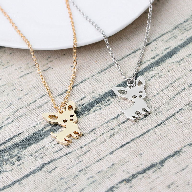 Hfarich Unique Dog Paw Necklaces Corgi Dog Animal Heartbeart Charm Necklace Jewelry For Animal Lovers Gift Jewelry & Accessories Necklaces & Pendants