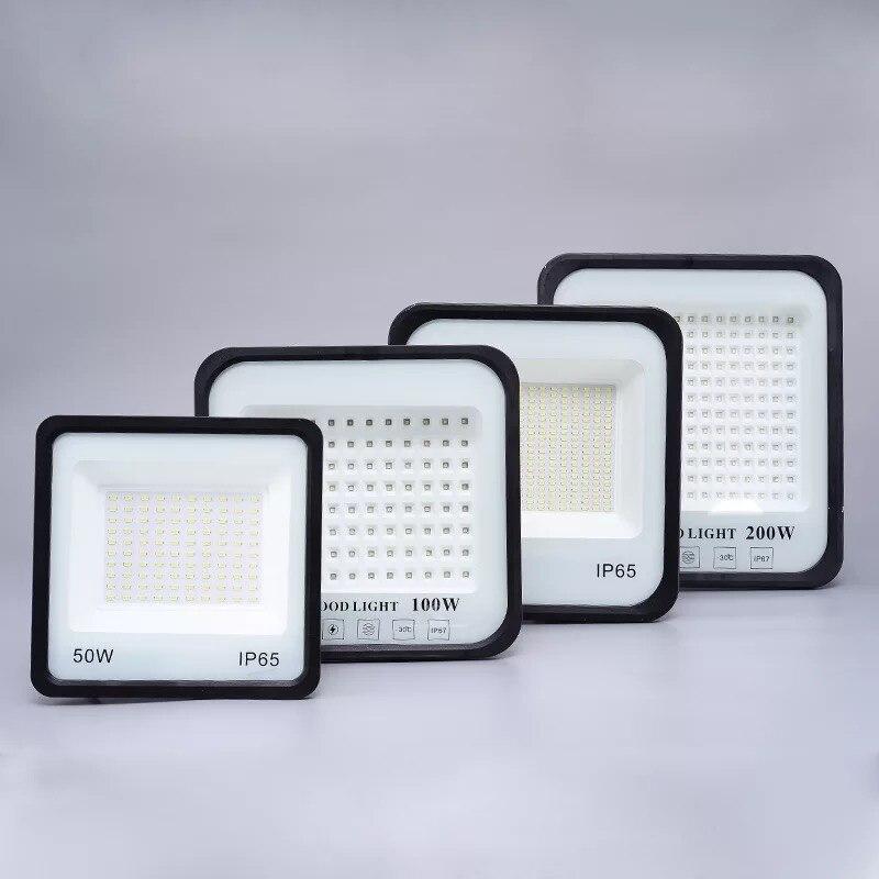 Ultra thin AC 110 220V LED 50W 100W 150W 200W Floodlight Spotlight Spotlight Outdoor Wall Mount Wall Lamp Garden Factory Garage in Floodlights from Lights Lighting