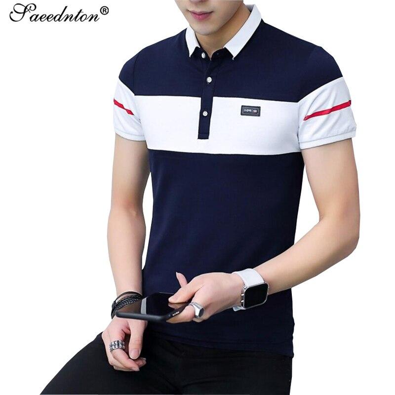 2019 Summer   Polos   Mens Fashion Patchwork   Polo   Shirts Cotton Short Sleeve Camisas   Polo   Casual Turn-down Collar Male   Polo   Shirt