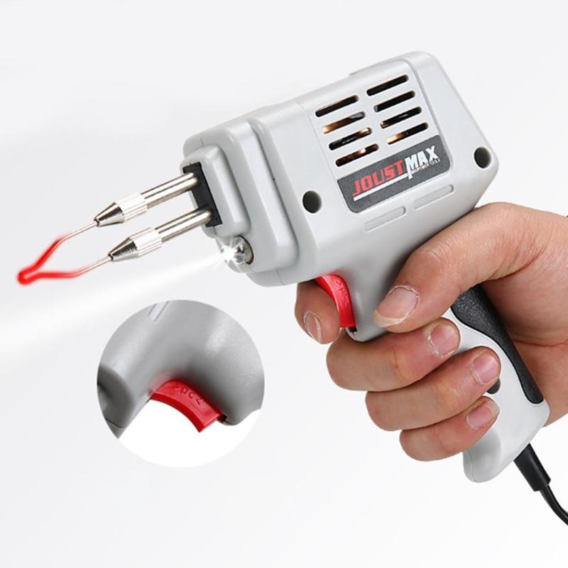 100W EU Automatic Send Tin Gun Electric Soldering Iron Rework Station Desoldering Pump Welding Tool Solder Wire 220-240V