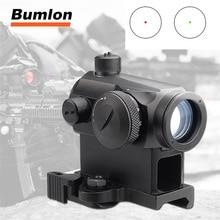 цена на Mini 1X24 Rifescope Sight Illuminated Red Dot Scope Mount For Hunting 5-0039