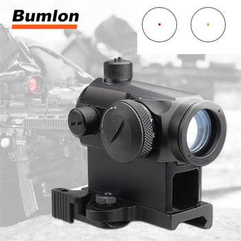 Mini 1X24 Rifescope Sight Illuminated Sniper Red Green Dot Sight With Quick Release Red Dot Scope Mount For Hunting Air 5-0039 - DISCOUNT ITEM  45% OFF Sports & Entertainment