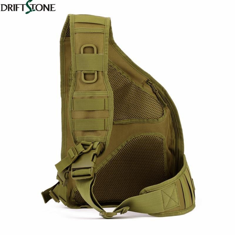 Sac de poitrine simple d'épaule de Sport en plein air escalade sac tactique en Nylon Camping sac à dos militaire sacs d'armée - 2