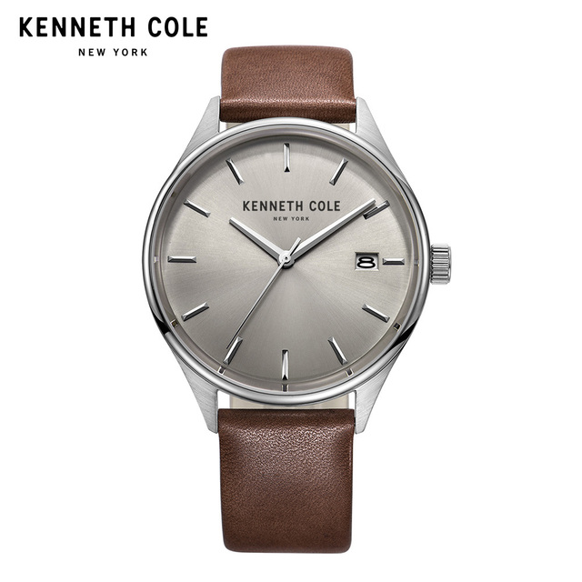 f660125fdb6 Kenneth Cole Watches For Men Genuine Black Brown Leather B Quatz Simple  Calendar Waterproof Mens Watches KC10029304
