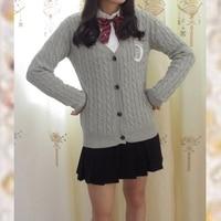 Jk Uniform Sailor Moon Embroidery Long Sleeve V Neck Cardigan Sweater Knitwear woman sweater