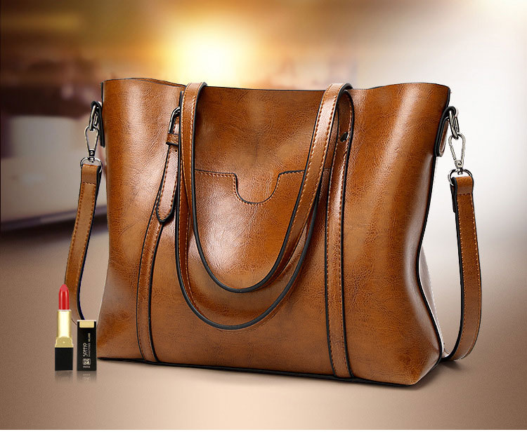 Genuine leather Women Tote handbags 11
