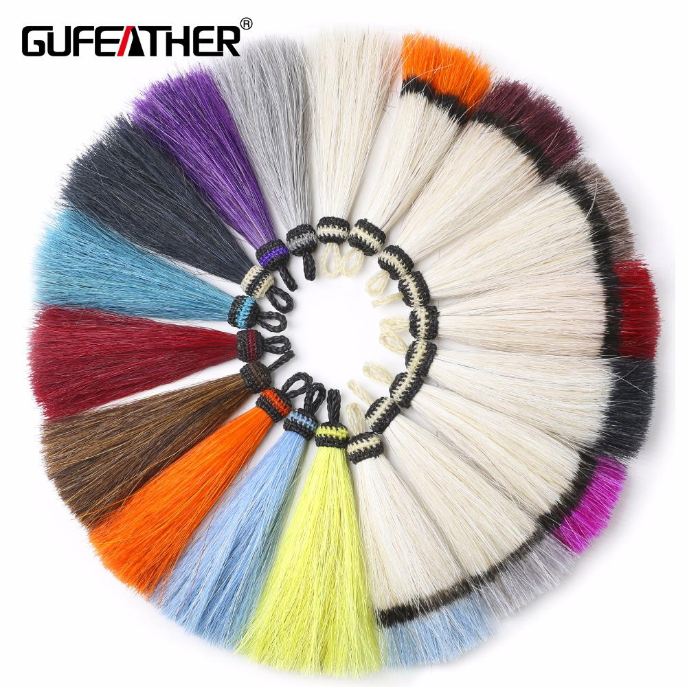 GUFEATHER L101/10CM Horsehair tassel/tassel/jewelry accessories/hand made/jewelry making/Color slippery pendant/embellishments gufeather l39 10cm silk tassel jewelry accessories jewelry findings