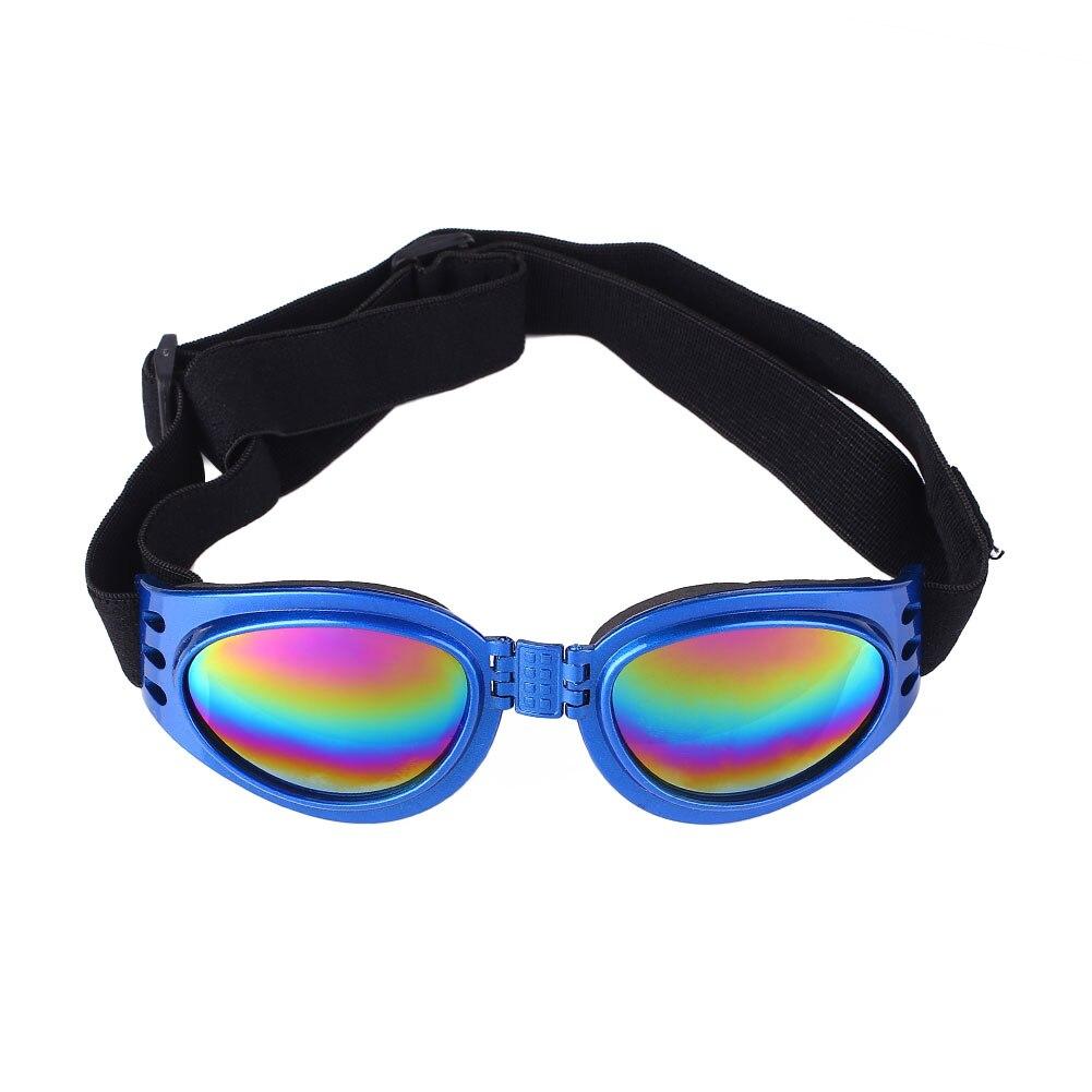 ПЭТ очки для собаки солнцезащитные очки складные эластичные солнцезащитные очки Защита глаз - Цвет: Blue