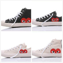 conversees all stars Skate Shoes 1970s Classic Canvas Casual Play Jointly  Big Eyes Name Heart Womens ab12acbb0