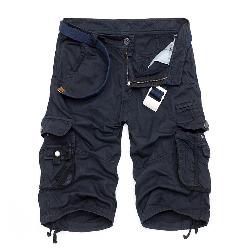 Camo Military Shorts Bermuda 2017 Summer Camouflage Cargo Shorts Men Cotton Loose Tactical Short Pants No