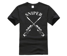 Special Air Service Men T-Shirt Sniper Badge Military Army Shooting T Shirt SAS Homme Tops Shirts Free Shipping military sniper die tired t shirt men us marines sas army usmc casual army tee hip hop punk style oversized t shirt off white