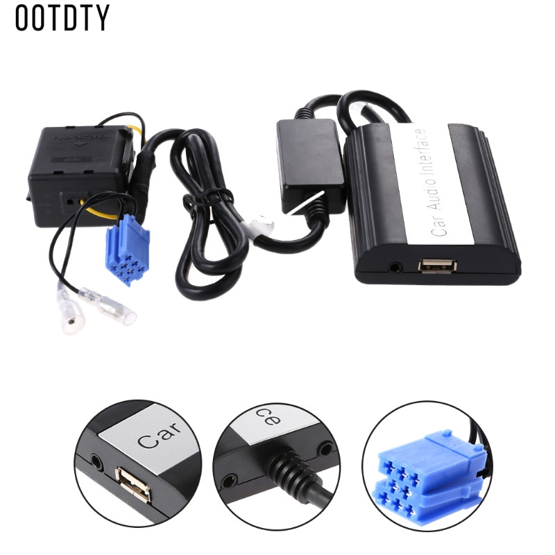Hot New Mains Libres De Voiture Bluetooth Kits MP3 USB Musique Sans Fil AUX Adaptateur 8 Broches Interface Pour Renault Megane Clio Scenic laguna