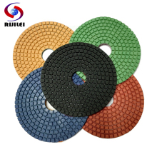 (5DS1) 7pieces/lot 125 Mm Diamond Floor Polishing Pad For Granite 5 Inch