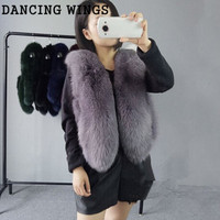 import whole skin fox fur vest short paragraph natural real fox fur waistcoat for women