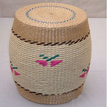Fashion grass wicker handicrafts handmade Stools Ottomans Free shippping