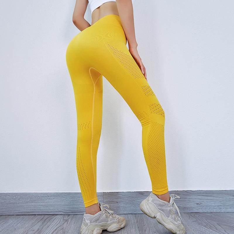 2019 femmes Sport Leggings respirant séchage rapide Fitness Sportswear course Gym exercice taille haute pantalon Stretch Yoga tenue de Sport