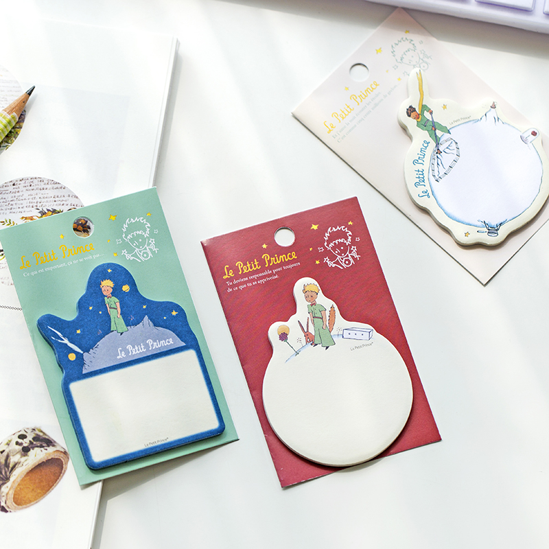 1 pcs Cartoon Le petit prince memo pad paper sticky notes planner sticker post stationery papeleria office school supplies 7131 kicute 70sheets pack self adhesive blank label paper price sticker stationery mark sticker for office stores libraries supplies