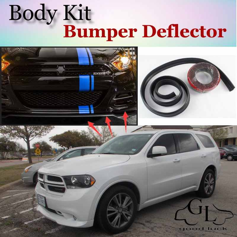 Bumper Lip Deflector Lips For Dodge Durango MK3 2011~2015 Front Spoiler Skirt For TG Friends Car Tuning View / Body Kit / Strip