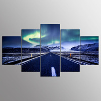 5 Pieces HD Print Painting Highway Landscape Modular Picture For Modern Decorative Bedroom Living Room Home