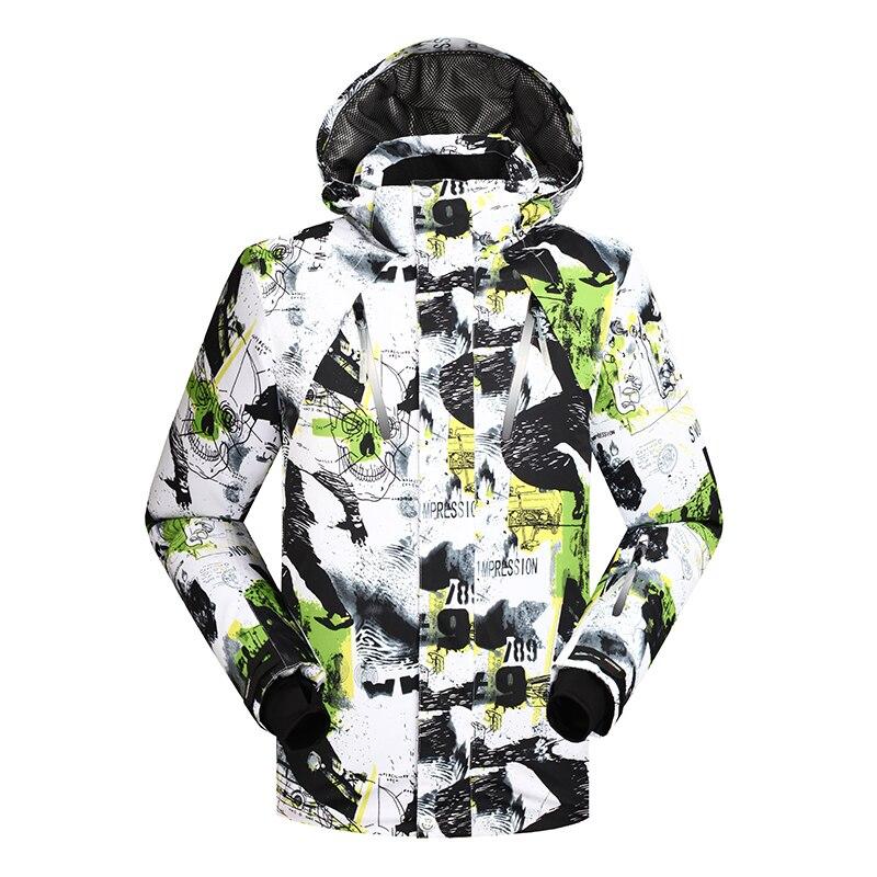 Prix pour 2016 hiver ski veste hommes sportif porter coupe-vent imperméable snowboard manteau pour mâle montagne Vers Le Bas veste super chaud-30 degré
