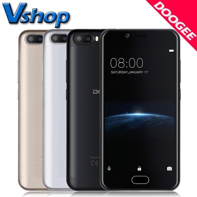 Цена за Оригинал DOOGEE Shoot 2 3 Г Мобильные Телефоны Android 7.0 2 ГБ RAM 16 ГБ ROM Quad Core Смартфон Двойная Камера Заднего Вида 5.0 дюймов Сотовый телефон