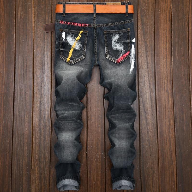 Black Blue Ripped Jeans For Men 1
