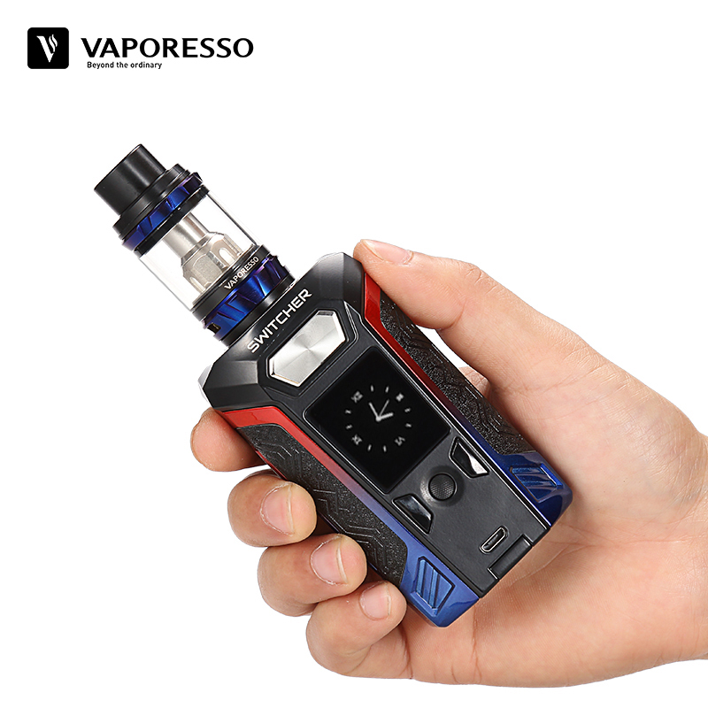 E-Cigarette Vape Kit Vaporesso Switcher With NRG Tank Electronic Cigarette With 220W Switcher 510 Box Mod Without Battery sunny fashion girls dress princess worsted winter christmas hat lace red 2018 summer wedding party dresses clothes size 4 10