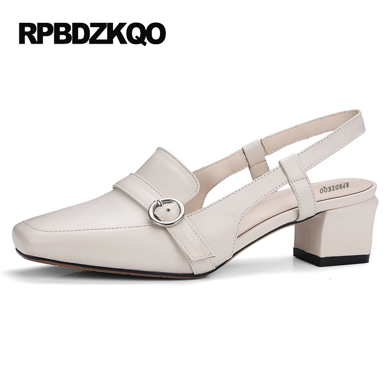 Sandals Metal Strap Pumps Square Toe Beige Vintage Medium 2017 Women Shoes High Heels Size 33 Slingback Belts Block Chinese sandals metal strap pumps square toe beige vintage medium 2017 women shoes high heels size 33 slingback belts block chinese
