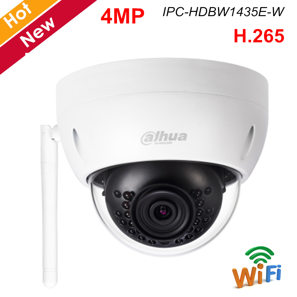 Dahua English Version 4MP Ip Camera Wifi Camera Human Detection H.264 H.265 2.8mm 3.6mm Optional Wireless Camera IPC-HDBW1435E-W