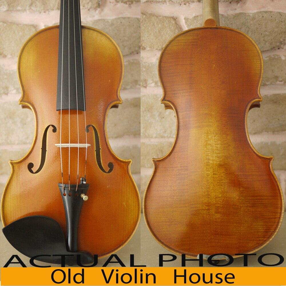 Carpathian Spruce Stradivarius Viotti 1709 Violin With Lable,100% Antique varnish. Aubert Bridge,No.2455 master violin identity copy guarneri del gesuthe cannon1743 strong and deep tone free shipping aubert bridge no 3