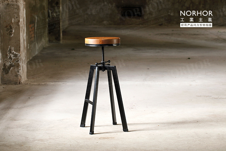the nordic expression vintage french industrial design wrought iron chair bar stool lift rotationchina buy industrial furniture