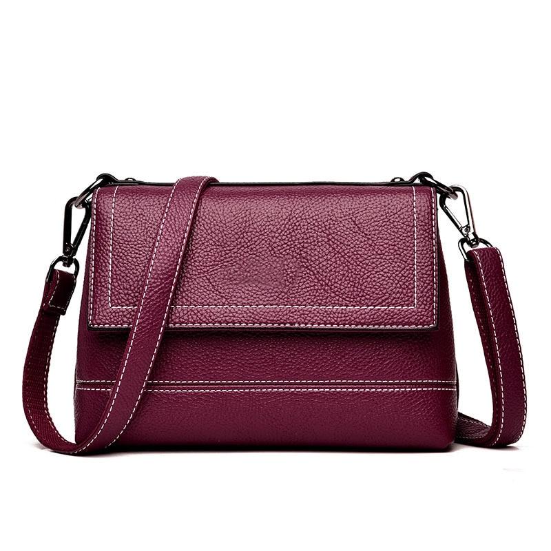Chu JJ High Quality Genuine Leather Women's Handbags Shoulder CrossBody Bag Ladies Messenger Bags Fashion Thread Women Bags цена 2017