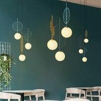 Modern LED Pendant Light Nordic Dining Room Kitchen Lamp Hanging Lamps Large Luminaria Black White Gold