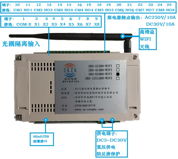 Wireless WIFI Relay Remote Control IO Switch Quantity Wireless Acquisition and Control PLC Input and Output Module