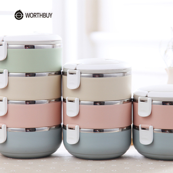 Gradient Color Japanese Lunch Box by WORTHBUY