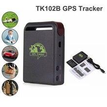 10 unids/lote Localizador GPS GSM Vehículo TK102B Mini Coche En Línea En Tiempo Real GSM Gprs que sigue el Dispositivo Localizador GPS Tracker TK102 Coches Pet