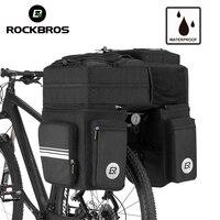 ROCKBROS Bike Bicycle Bag 48L MTB Bike Rack Bag 3 in 1 Multifunction Road Bicycle Pannier Rear Seat Trunk Bag With Rain Cover
