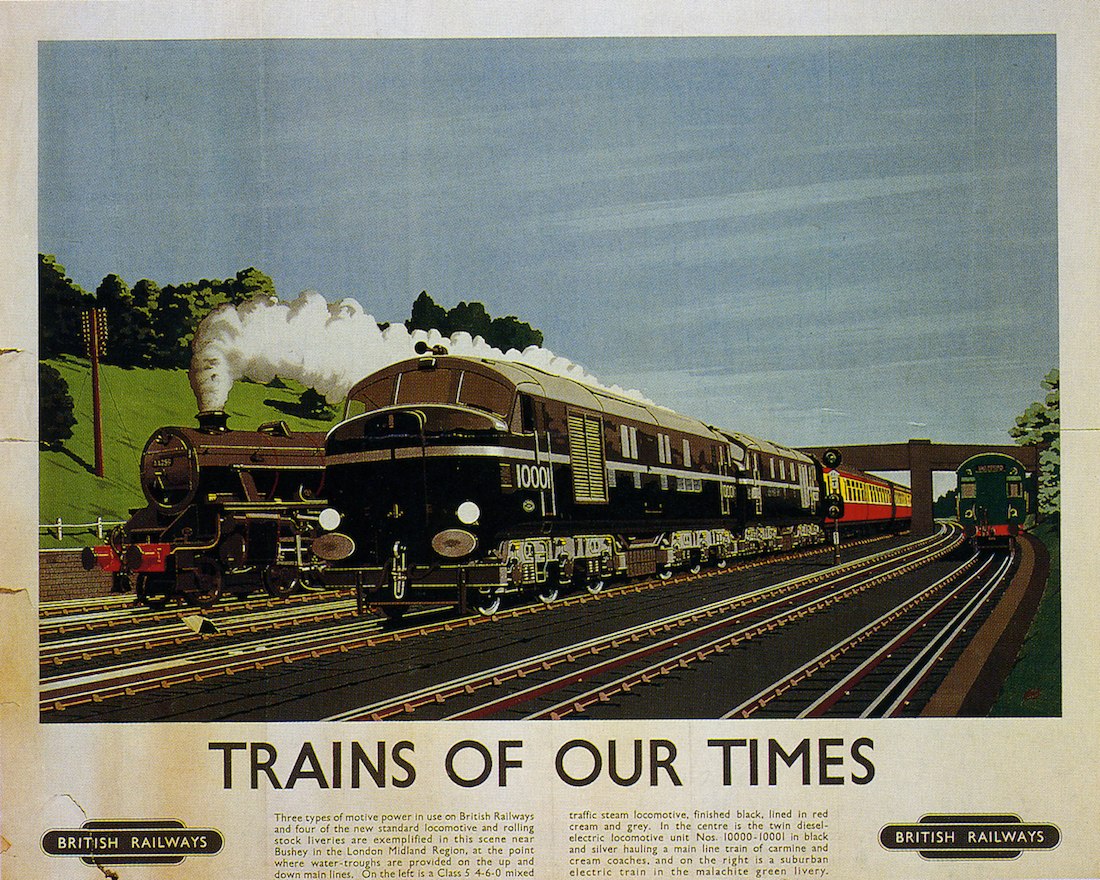 Canvas British Rail Train Art print POSTER