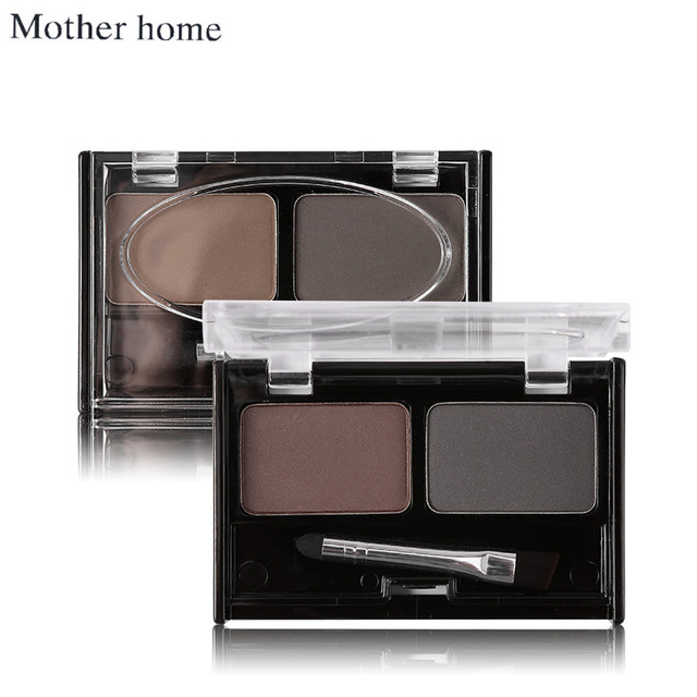 Mother Home Eye Brow Dye Makeup 2 Color Eyebrow Powder Palette Waterproof Eyebrow Tattoo Cake Shadow Kit with Brush