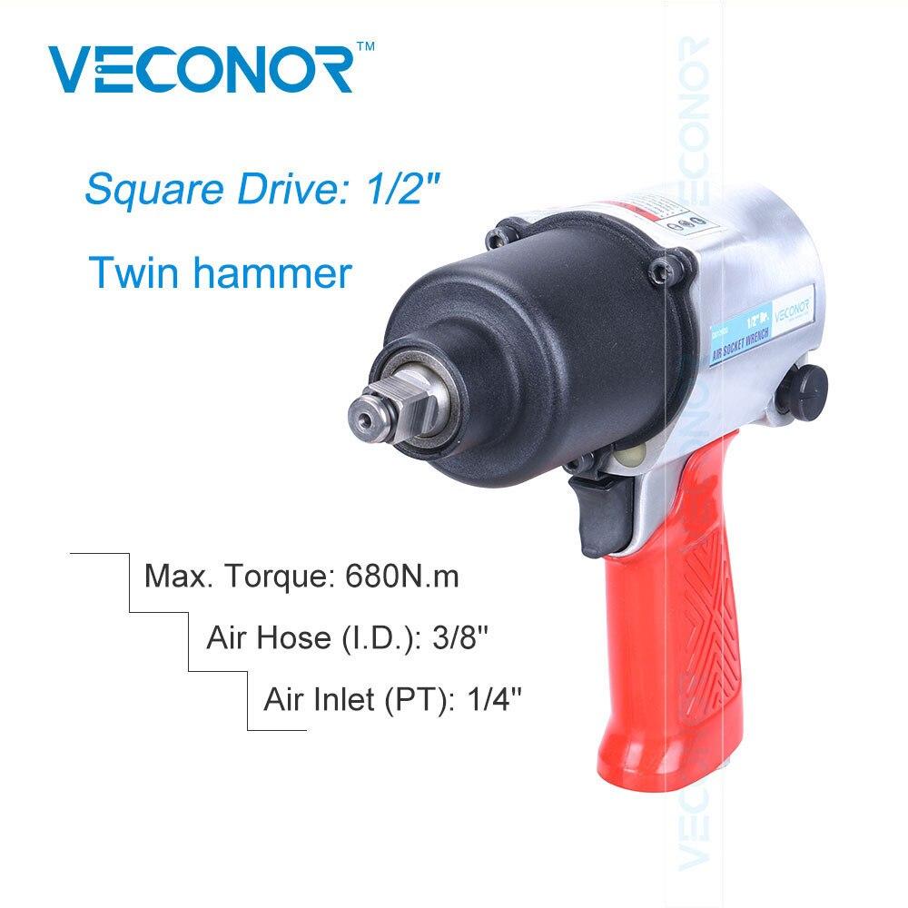 1/2 Square Drive Pneumatic Impact Air Socket Wrench Set Power Tools Twin Hammer 3 8 10mm chrome vanadium ratchet wrench 3 8 spanner socket set crv extend handle