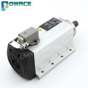 Image 4 - Motor de husillo refrigerado por aire cuadrado para enrutador CNC, 0,8 kW, ER11, 24000rpm, 400Hz, 6,5a