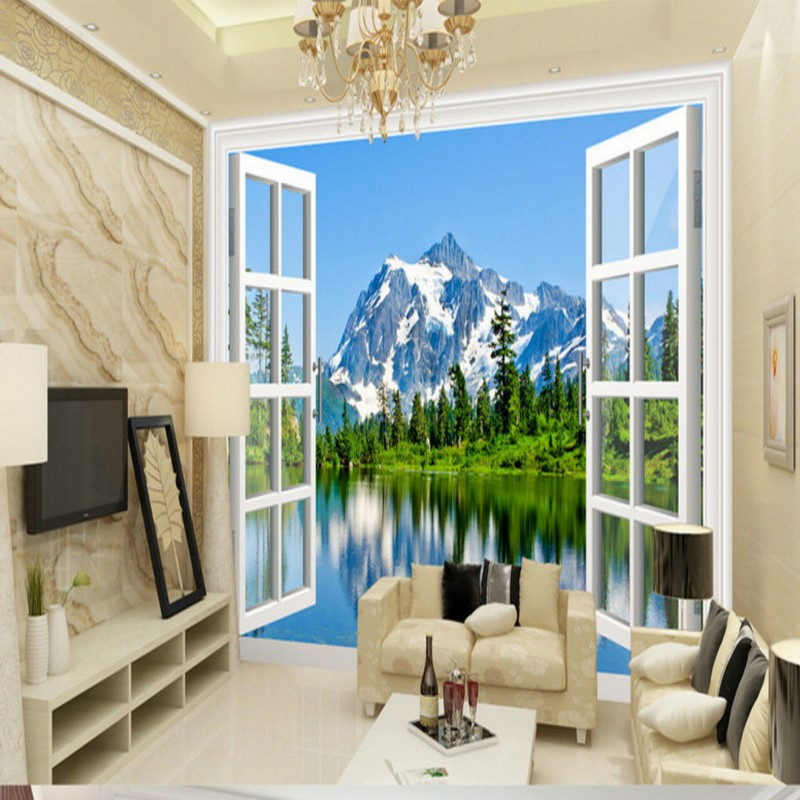 Free Shipping Snow mountain plateau 3D landscape background wall living room lobby home decoration wallpaper mural  free shipping pine forest 3d landscape background wall living room bathroom bedroom home decoration wallpaper mural