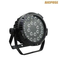 IP65 zewnętrzne wodoodporne LED lampa Par 24x18 W RGBWA UV 6in1 LED Par 24*18 W DMX512 kontroli profesjonalny etap sprzęt DJ w Oświetlenie sceniczne od Lampy i oświetlenie na